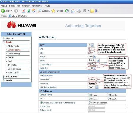 Huawei hg530 Firmware